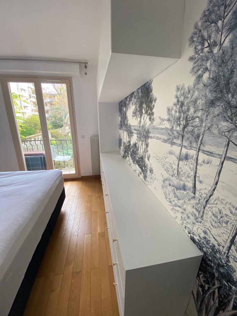 papier peint rangements chambre